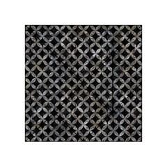 Circles3 Black Marble & Gray Stone Acrylic Tangram Puzzle (4  X 4 ) by trendistuff