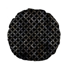 Circles3 Black Marble & Gray Stone Standard 15  Premium Flano Round Cushions by trendistuff