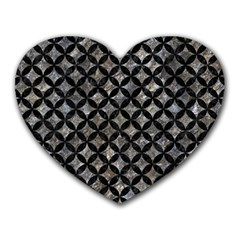 Circles3 Black Marble & Gray Stone (r) Heart Mousepads by trendistuff