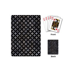 Circles3 Black Marble & Gray Stone (r) Playing Cards (mini)  by trendistuff