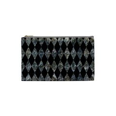 Diamond1 Black Marble & Gray Stone Cosmetic Bag (small)  by trendistuff