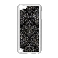Damask1 Black Marble & Gray Stone Apple Ipod Touch 5 Case (white) by trendistuff