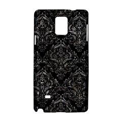Damask1 Black Marble & Gray Stone Samsung Galaxy Note 4 Hardshell Case by trendistuff