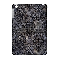 Damask1 Black Marble & Gray Stone (r) Apple Ipad Mini Hardshell Case (compatible With Smart Cover) by trendistuff