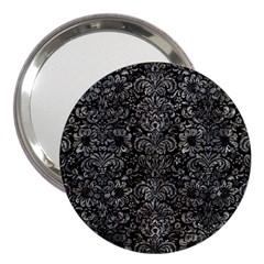 Damask2 Black Marble & Gray Stone 3  Handbag Mirrors by trendistuff