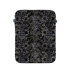 Damask2 Black Marble & Gray Stone Apple Ipad 2/3/4 Protective Soft Cases by trendistuff