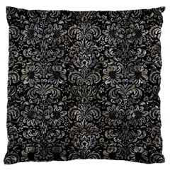 Damask2 Black Marble & Gray Stone Large Flano Cushion Case (two Sides) by trendistuff