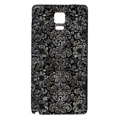 Damask2 Black Marble & Gray Stone Galaxy Note 4 Back Case by trendistuff