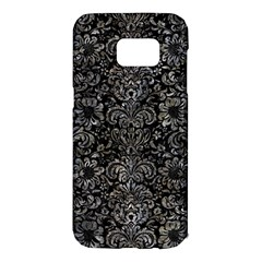 Damask2 Black Marble & Gray Stone Samsung Galaxy S7 Edge Hardshell Case by trendistuff