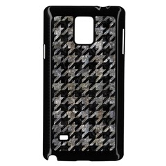 Houndstooth1 Black Marble & Gray Stone Samsung Galaxy Note 4 Case (black) by trendistuff