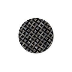 Houndstooth2 Black Marble & Gray Stone Golf Ball Marker (4 Pack) by trendistuff