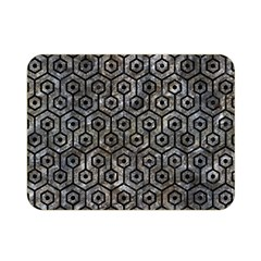 Hexagon1 Black Marble & Gray Stone (r) Double Sided Flano Blanket (mini)  by trendistuff