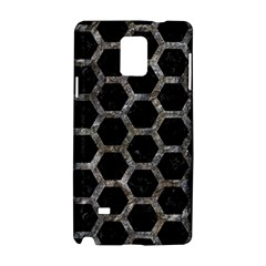 Hexagon2 Black Marble & Gray Stone Samsung Galaxy Note 4 Hardshell Case by trendistuff