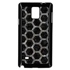 Hexagon2 Black Marble & Gray Stone Samsung Galaxy Note 4 Case (black) by trendistuff