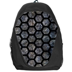 Hexagon2 Black Marble & Gray Stone (r) Backpack Bag by trendistuff