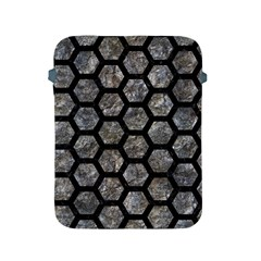 Hexagon2 Black Marble & Gray Stone (r) Apple Ipad 2/3/4 Protective Soft Cases by trendistuff