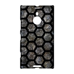 Hexagon2 Black Marble & Gray Stone (r) Nokia Lumia 1520 by trendistuff