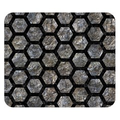 Hexagon2 Black Marble & Gray Stone (r) Double Sided Flano Blanket (small)  by trendistuff