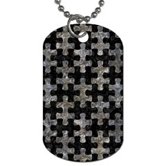 Puzzle1 Black Marble & Gray Stone Dog Tag (one Side) by trendistuff