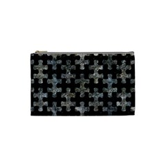 Puzzle1 Black Marble & Gray Stone Cosmetic Bag (small)  by trendistuff