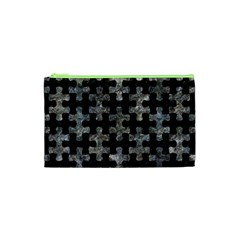 Puzzle1 Black Marble & Gray Stone Cosmetic Bag (xs) by trendistuff