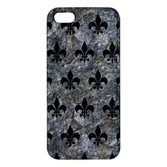 Royal1 Black Marble & Gray Stone Apple Iphone 5 Premium Hardshell Case by trendistuff