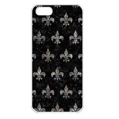 Royal1 Black Marble & Gray Stone (r) Apple Iphone 5 Seamless Case (white) by trendistuff