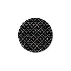 Scales1 Black Marble & Gray Stone Golf Ball Marker (10 Pack) by trendistuff