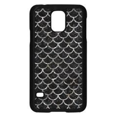 Scales1 Black Marble & Gray Stone Samsung Galaxy S5 Case (black) by trendistuff