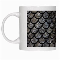 Scales1 Black Marble & Gray Stone (r) White Mugs by trendistuff