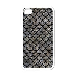 Scales1 Black Marble & Gray Stone (r) Apple Iphone 4 Case (white) by trendistuff