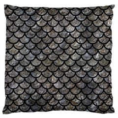 Scales1 Black Marble & Gray Stone (r) Standard Flano Cushion Case (one Side) by trendistuff