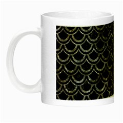 Scales2 Black Marble & Gray Stone Night Luminous Mugs by trendistuff