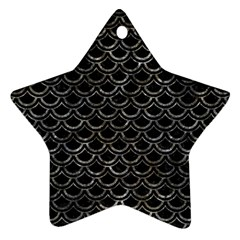 Scales2 Black Marble & Gray Stone Star Ornament (two Sides) by trendistuff