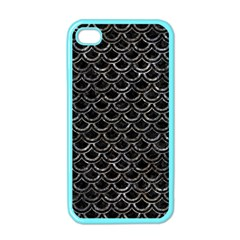 Scales2 Black Marble & Gray Stone Apple Iphone 4 Case (color)