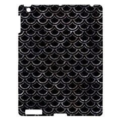 Scales2 Black Marble & Gray Stone Apple Ipad 3/4 Hardshell Case by trendistuff