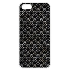 Scales2 Black Marble & Gray Stone Apple Iphone 5 Seamless Case (white) by trendistuff