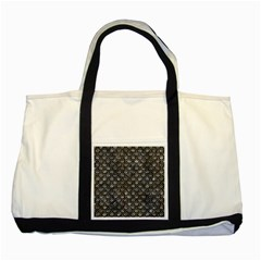 Scales2 Black Marble & Gray Stone (r) Two Tone Tote Bag by trendistuff