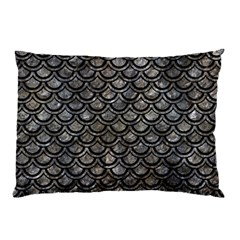 Scales2 Black Marble & Gray Stone (r) Pillow Case by trendistuff