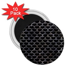 Scales3 Black Marble & Gray Stone 2 25  Magnets (10 Pack)  by trendistuff