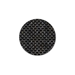 Scales3 Black Marble & Gray Stone Golf Ball Marker (10 Pack) by trendistuff