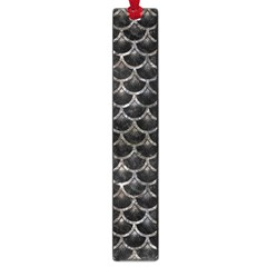 Scales3 Black Marble & Gray Stone Large Book Marks by trendistuff