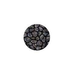 Skin1 Black Marble & Gray Stone 1  Mini Buttons