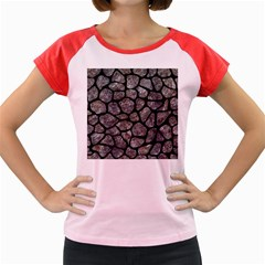 Skin1 Black Marble & Gray Stone Women s Cap Sleeve T Shirt by trendistuff