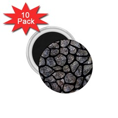 Skin1 Black Marble & Gray Stone 1 75  Magnets (10 Pack)  by trendistuff