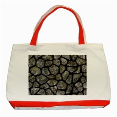 Skin1 Black Marble & Gray Stone Classic Tote Bag (red) by trendistuff
