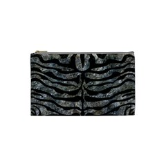 Skin2 Black Marble & Gray Stone (r) Cosmetic Bag (small)  by trendistuff