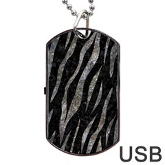 Skin3 Black Marble & Gray Stone Dog Tag Usb Flash (one Side) by trendistuff