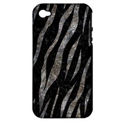 Skin3 Black Marble & Gray Stone Apple Iphone 4/4s Hardshell Case (pc+silicone) by trendistuff