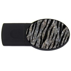 Skin3 Black Marble & Gray Stone (r) Usb Flash Drive Oval (4 Gb) by trendistuff